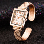 Top Stylish Luxury Women Watch Bracelet Watch Ladies Bracelet Wristwatch Stainless Steel Elegant Watch Square Clock