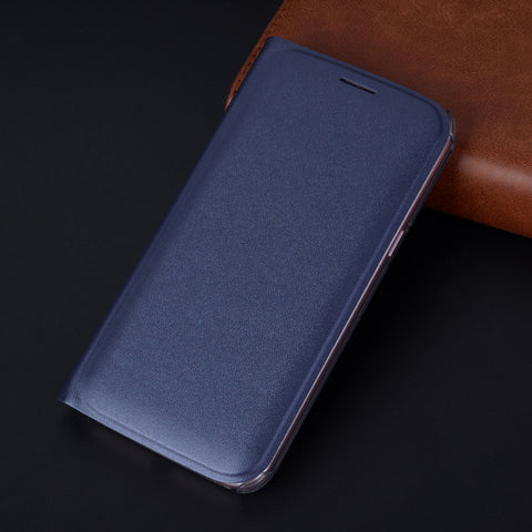 Flip Cover Leather Wallet Case For Samsung Galaxy J2 Pro J3 J4 J6 J7 J8 2018 J2pro J 2 3 4 6 7 8 SM J250F J400F J600F Phone Case