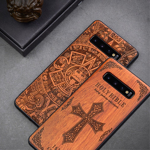 Phone Case For Samsung s20 s20+ Ultra s10 Plus Original Boogic Wood TPU Case For Samsung Galaxy s10 s20 plus Phone Accessories