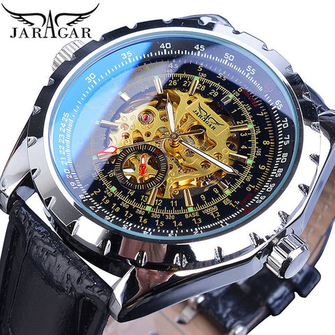 Jaragar Men Watches Automatic 2019 Silver White Male Steel Band Self-Wind Mechanical Watch Analog Sport Army Military Wristwatch