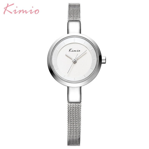 Luxury Brand Kimi Ladies Wristwatches Small Quartz Dial Clock Waterproof with a Stainless Steel Band