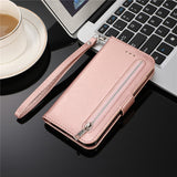 Leather Zipper Flip A70 A50 A40 A30 A20 E A10 M10 Wallet Case For Samsung Galaxy S10 S9 S8 Plus S7 Edge Note 8 9 10 Phone Cover