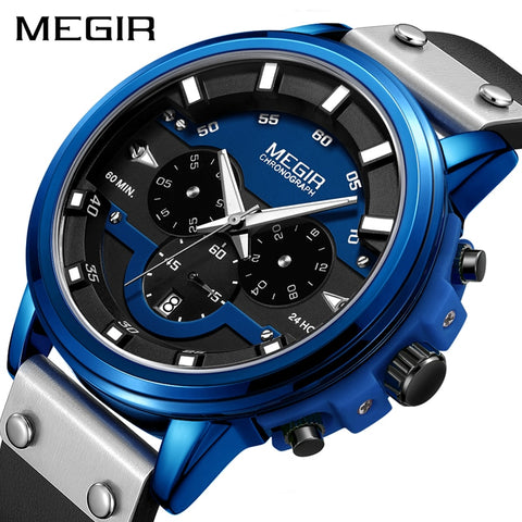 MEGIR Watch Men Sport Waterproof Mens Watches Top Brand Luxury Quartz Wristwatch
