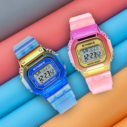 SYNOKE Women Digital Watch Casual Unisex Watch LED Display Waterproof Alarm Clock Feminino Relogio Ladies Watches Electronic