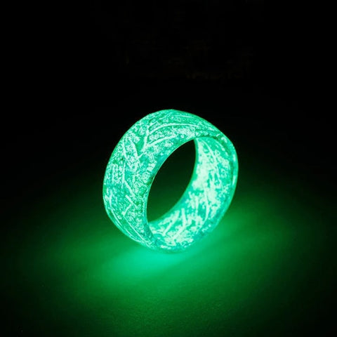 Secret Woods Color Ring Hot Fashion Cool Luminous Crack Night Day Glow Meteor Ring Couple Lover Jewelery