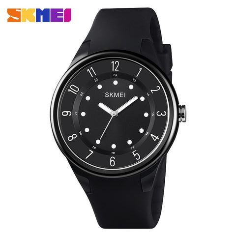 SKMEI Quartz Ladies Watches Fashion Simple Wristwatches Women Watch ABS Case Waterproof