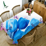 3D Tablecloth Colorful Lines Sexy Flower Merry Christmas Waterproof Thicken Rectangular and Round Table Cloth for Wedding