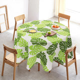 Nordic Style Round Table Cloth Cotton Linen Kitchen Tablecloth Oilproof Decorative Elegant Christmas Tree Pattern Table Cover