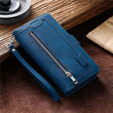 Zipper Wallet A51 A71 A41 Case For Samsung Galaxy S20 Ultra S10 E S9 S8 Plus A50 A40 A30 A20 A10 M10 S Leather Card Phone Cover