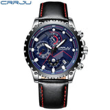 New Fashion Sports Quartz Men Watches Mens Top Brand Luxury Military Leather Waterproof Watches