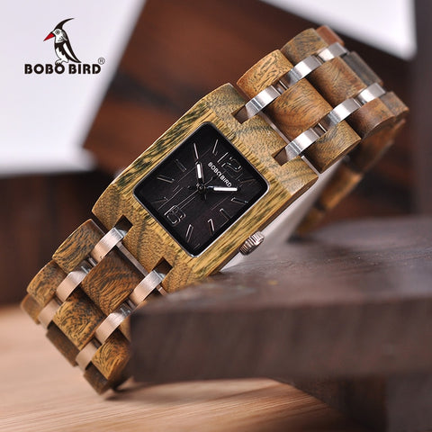 Relogio Feminino BOBO BIRD 25mm Women Watches Wooden Timepieces Luxury Brand Top Girlfriend Gifts in wood Box Drop Shipping