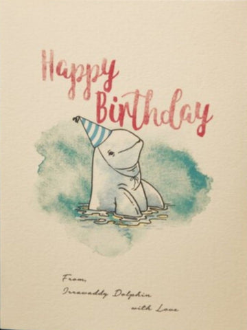 Irrawaddy Dolphin Birthday Card