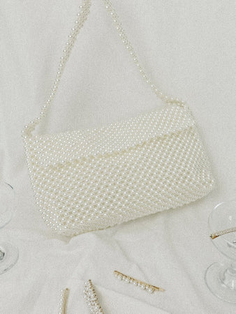 Abby Faux Pearl Midi Crossover bag