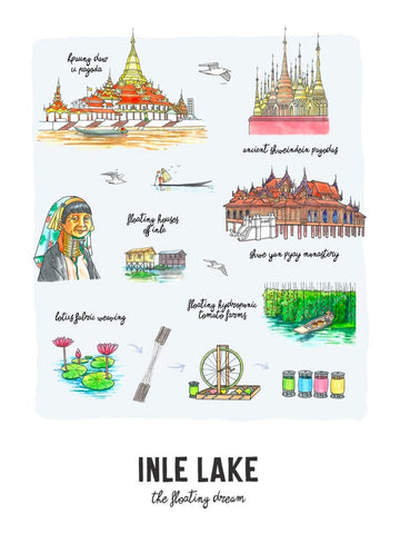 Inle Lake Non Framed Wall Art