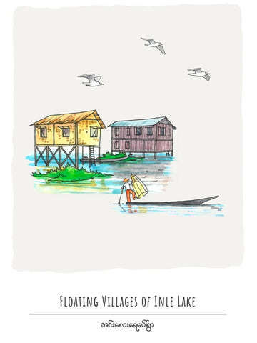 Floating Villages of Inle Lake Postcard