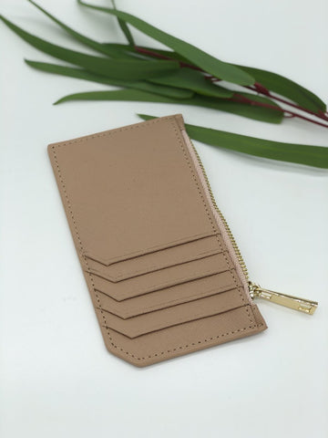 Colby Card Case in Beige