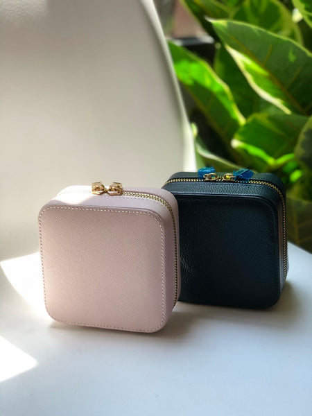 Travel Jewellery Case in Pink
