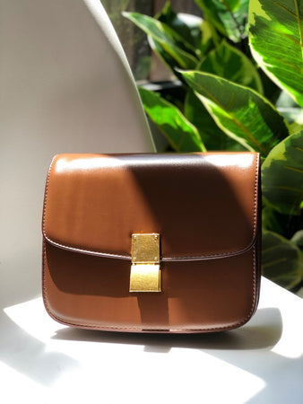 Palma Structured Bag in Brown