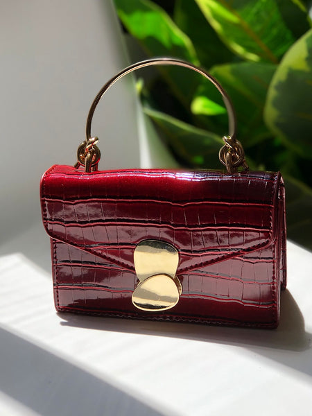 Granada Top Handle Bag in Wine