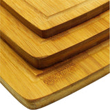 3 Pieces Culinary Non-Microbial Bamboo Chopping Board