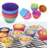 Muffin Cup Baking Liner Cake Mold Silicone Cupcake (12 Pieces)