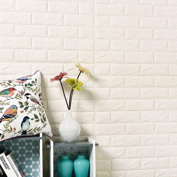 DIY Waterproof Brick Pattern 3D Wall Stickers with Self-Adhesive