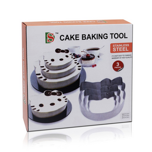 3 Pieces Stainless Steel Hello Kitty Cake Baking Tool