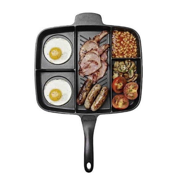 5 in 1 Multi Section Non Stick Frying and Grill Pan