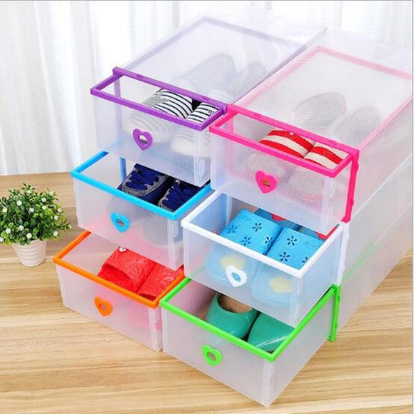 Foldable Plastic Shoe Box Organizer