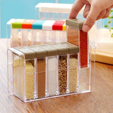 6 Pieces Kitchen Condiments Storage Containers