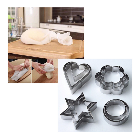 Kitchen Silicone Bag + FREE Biscuit Cutter