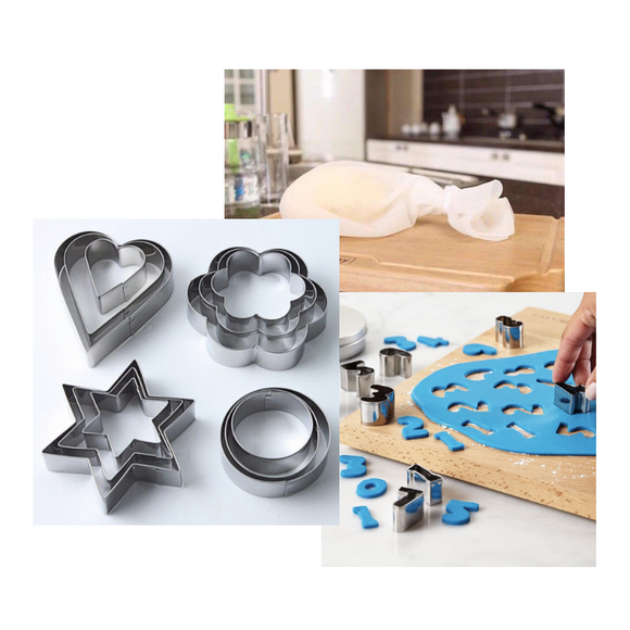 Kitchen Silicone Bag + FREE Cookie Cutter & Biscuit Cutter