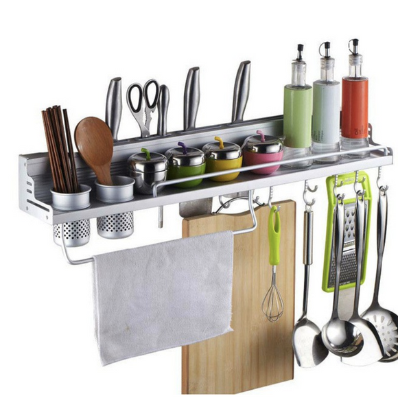 Multi-Function Aluminum Kitchen Shelf Storage Rack