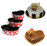 3 Pieces Stainless Steel Cake Baking Tool Heart Design