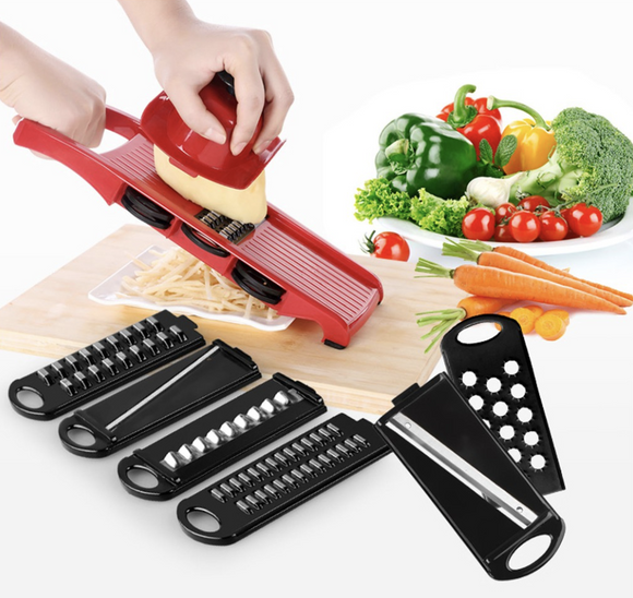 6 in 1 Multi Functional Kitchen Slicer, Grater and Chopper