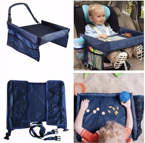Kids Car Seat Snack Travel Tray and Play Board Table
