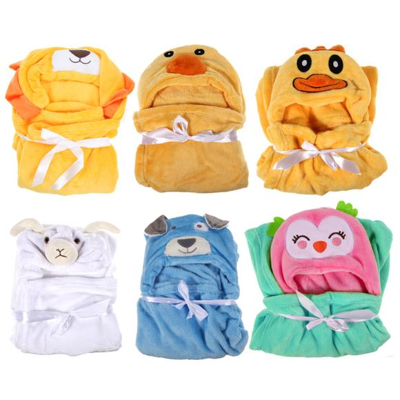 Cotton Flannel Baby Hooded Bath Towel