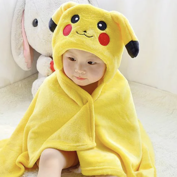 Children Beach Hooded Towel Children Cartoon Baby Bath Towel