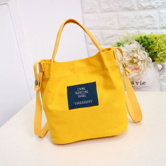 Korean Bag Canvas Handbag Shoulder Bag Bucket Crossbody Bag