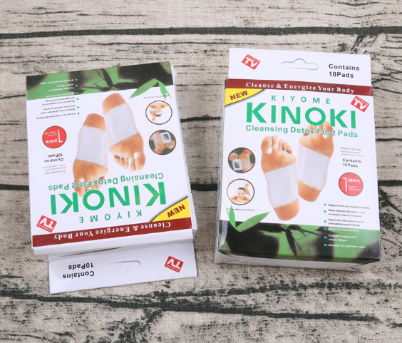 10 Pieces Kinoki Detox Cleansing Foot Pad with Garlic and Salt Detox