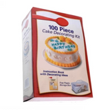100 Pieces Cake Decorating Kit + FREE Round, Heart and Square Cake Molding Pan