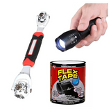 48 in 1 Universal Multi-Function Wrench + FREE Flex Tape Water Pipe Leak Proof & TacLight 40x High Powered Light