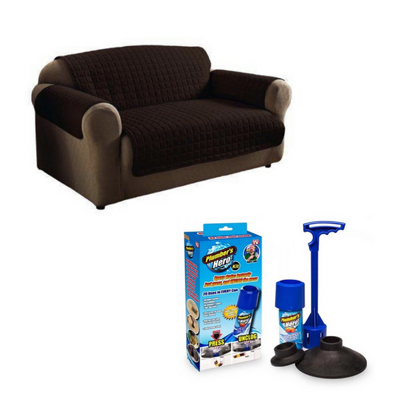 Reversible Double Couch Cover + FREE Plumbers Hero Kit
