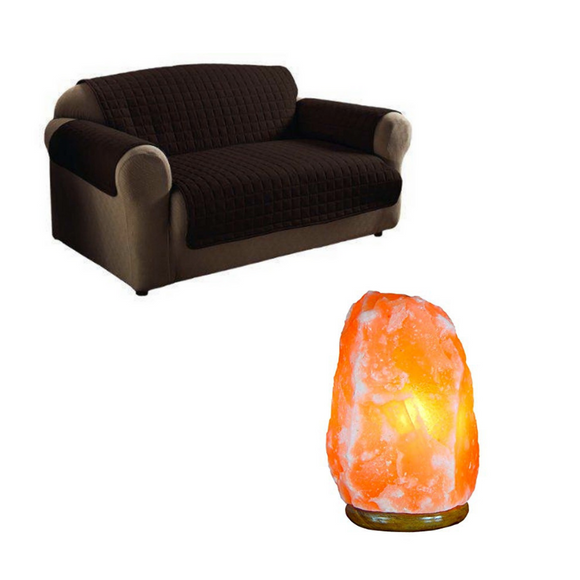 Reversible Double Couch Cover + FREE 4-5KG Himalayan Salt Lamp