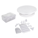 100 Pieces Cake Decorating Kit + FREE Turn Table