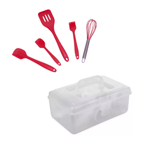 100 Pieces Cake Decorating Kit + FREE Silicone Baking Tools Set