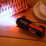 8 in 1 Screwdriver with LED Power Torch