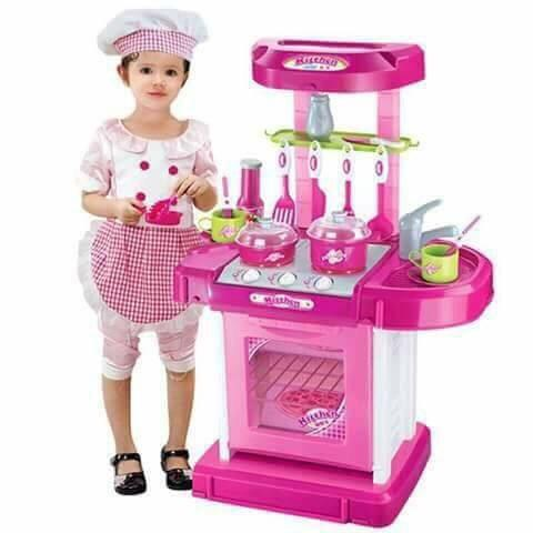 Pink Pretend & Play Kitchen Toy Set
