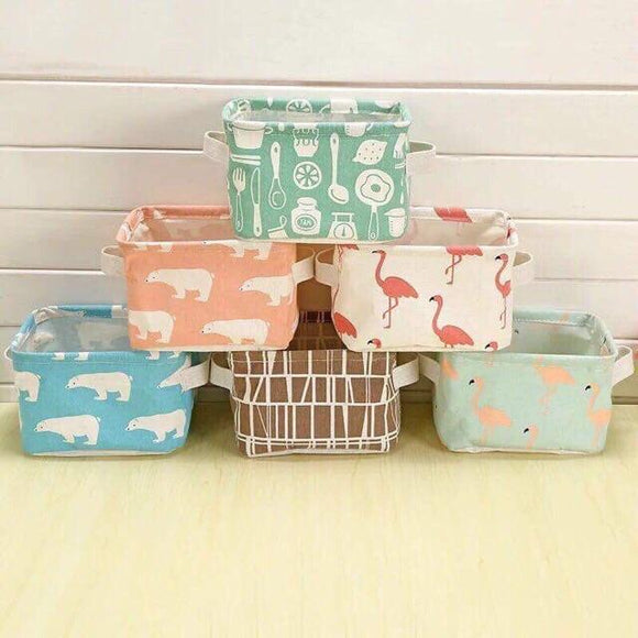 Mini Square Storage Organizer Cosmetic Basket Box