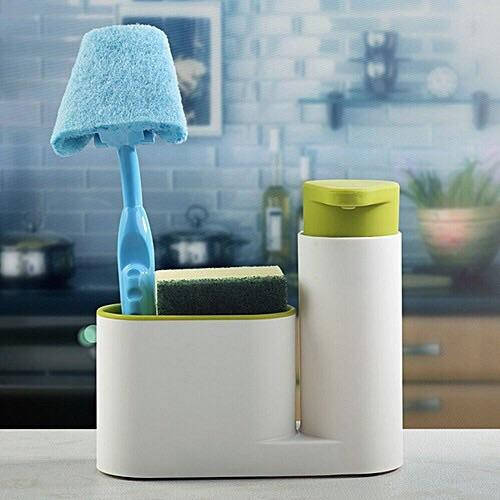 Kitchen Sink Organizer with Soap Dispenser